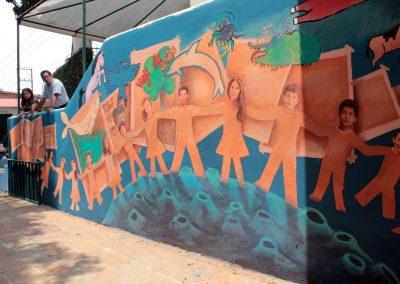 012 Viaje de sexto, mural colectivo, Colegio Nuestro Mundo, Xalapa, Veracruz, 2014
