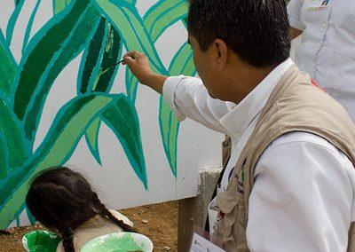 013 Mural colectivo La mano vuelta a la salud, Filomeno Mata, Veracruz