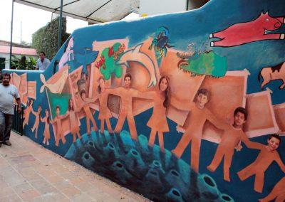 013 Viaje de sexto, mural colectivo, Colegio Nuestro Mundo, Xalapa, Veracruz, 2014