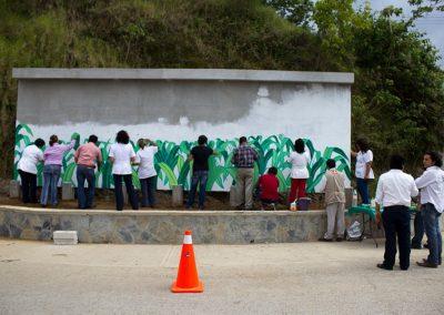 014 Mural colectivo La mano vuelta a la salud, Filomeno Mata, Veracruz