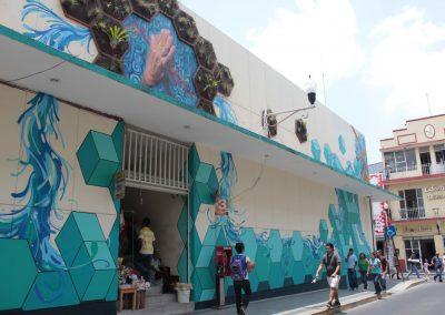 014 Padre Mercado, Madre de siglos, intervención artística en el Mercado Jáureguim Xalapa, Veracruz