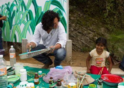 015 Mural colectivo La mano vuelta a la salud, Filomeno Mata, Veracruz