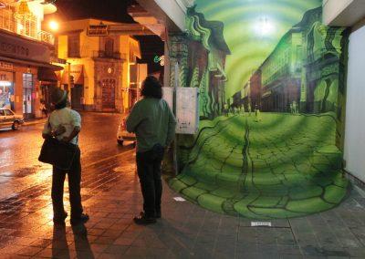 015 Túnel del tiempo, Acrílico sobre muro, Edificio Enríquez, Xalapa, Veracruz