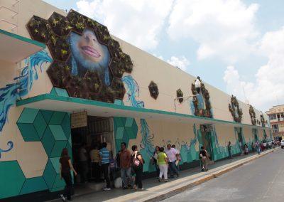 016 Padre Mercado, Madre de siglos, intervención artística en el Mercado Jáureguim Xalapa, Veracruz