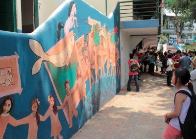 016 Viaje de sexto, mural colectivo, Colegio Nuestro Mundo, Xalapa, Veracruz, 2014