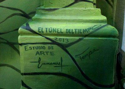 017 Túnel del tiempo, Acrílico sobre muro, Edificio Enríquez, Xalapa, Veracruz