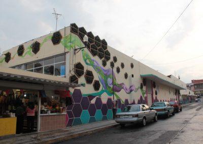 018 Padre Mercado, Madre de siglos, intervención artística en el Mercado Jáureguim Xalapa, Veracruz