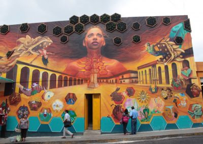 020 Padre Mercado, Madre de siglos, intervención artística en el Mercado Jáureguim Xalapa, Veracruz