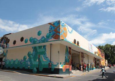 021 Padre Mercado, Madre de siglos, intervención artística en el Mercado Jáureguim Xalapa, Veracruz