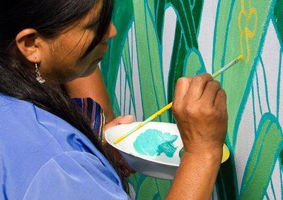 022 Mural colectivo La mano vuelta a la salud, Filomeno Mata, Veracruz