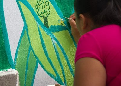 023 Mural colectivo La mano vuelta a la salud, Filomeno Mata, Veracruz