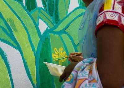 024 Mural colectivo La mano vuelta a la salud, Filomeno Mata, Veracruz