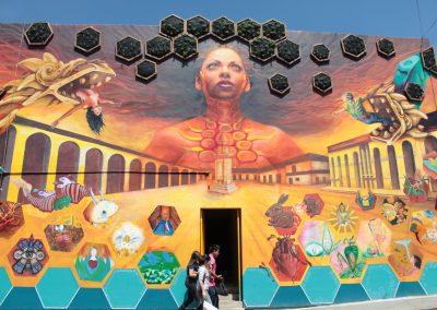 024 Padre Mercado, Madre de siglos, intervención artística en el Mercado Jáureguim Xalapa, Veracruz