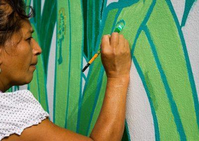 025 Mural colectivo La mano vuelta a la salud, Filomeno Mata, Veracruz