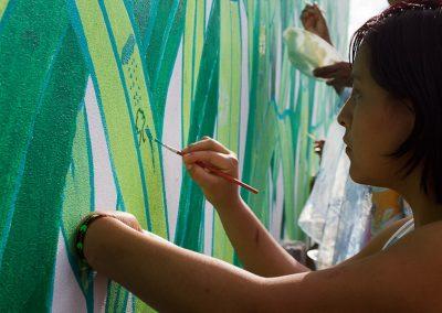 027 Mural colectivo La mano vuelta a la salud, Filomeno Mata, Veracruz
