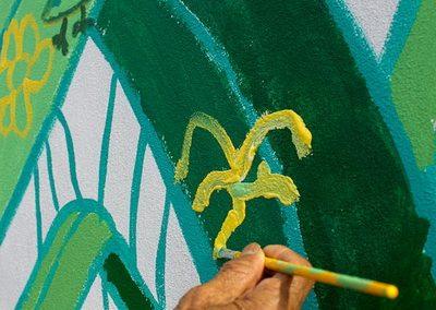 028 Mural colectivo La mano vuelta a la salud, Filomeno Mata, Veracruz