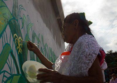 029 Mural colectivo La mano vuelta a la salud, Filomeno Mata, Veracruz