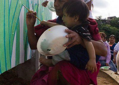 033 Mural colectivo La mano vuelta a la salud, Filomeno Mata, Veracruz