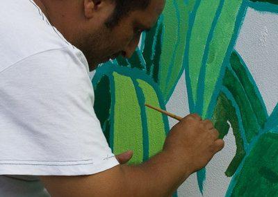 036 Mural colectivo La mano vuelta a la salud, Filomeno Mata, Veracruz